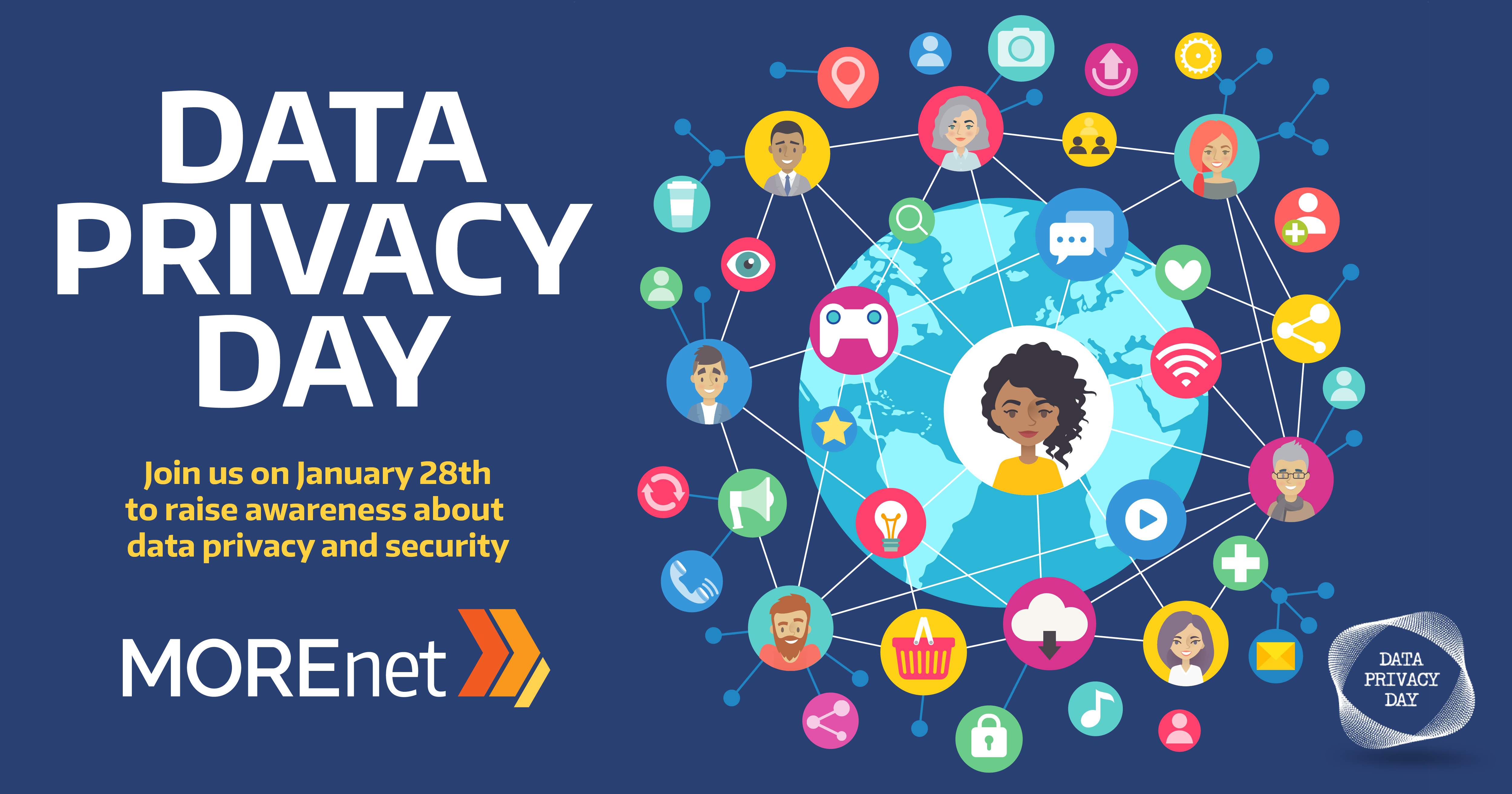 Data Privacy Day: Join us on Jan. 28 to raise awareness about data privacy and security. MOREnet.