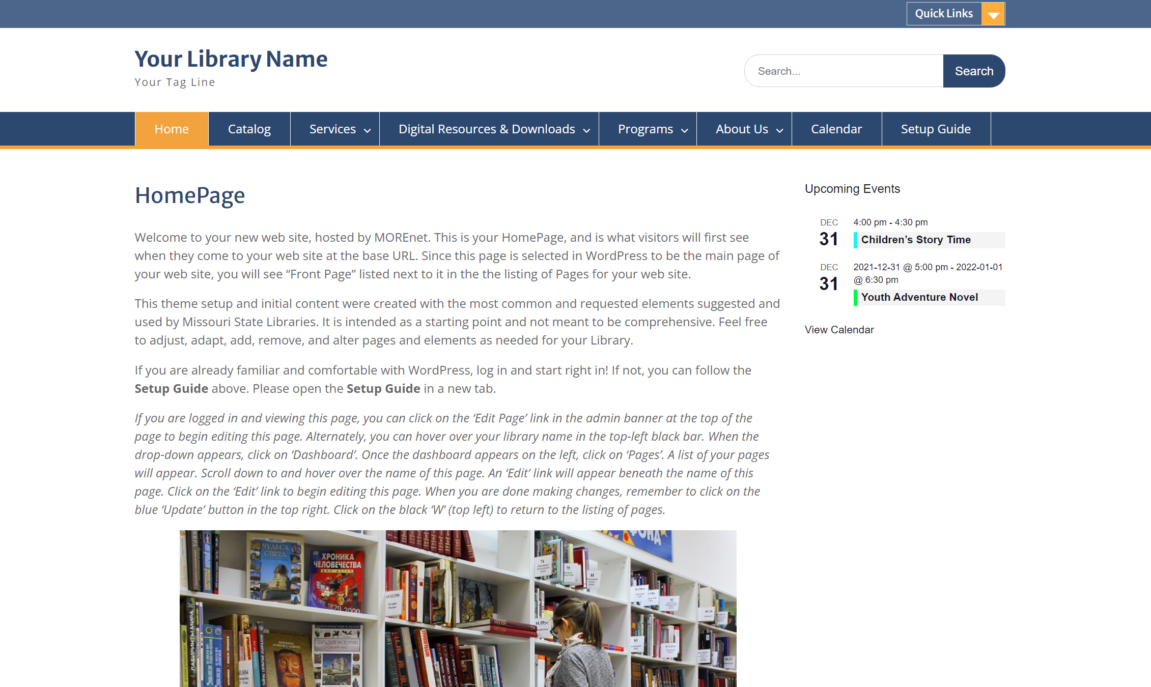 Third Library Template